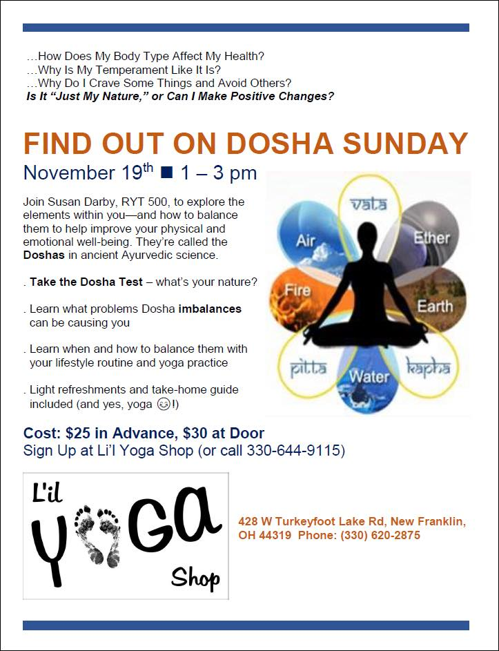 Learn Your Dosha (Body Type)